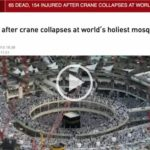 CRANE COLLAPSES AT WORLD'S HOLIEST MOSQUE IN MECCA